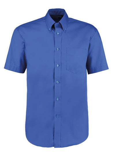Corporate Oxford Shirt Short-sleeved (classic Fit) In Royal
