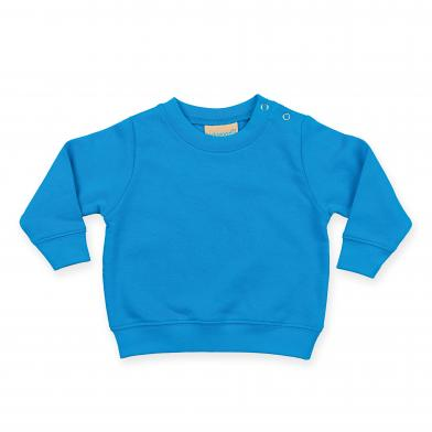 Crew Neck Sweatshirt With Shoulder Poppers In Sapphire*