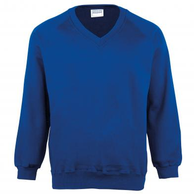 Maddins - Kids Coloursure V-neck Sweatshirt