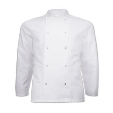 Alexandra  - Long Sleeve Stud Fastening Chefs Jacket