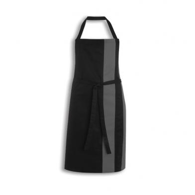 Contrast Bib Apron  In Black / Grey