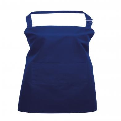 Colours Bib Apron With Pocket In Royal