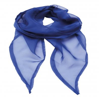'Colours' Chiffon Scarf In Royal