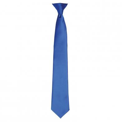'Colours' Satin Clip Tie In Royal