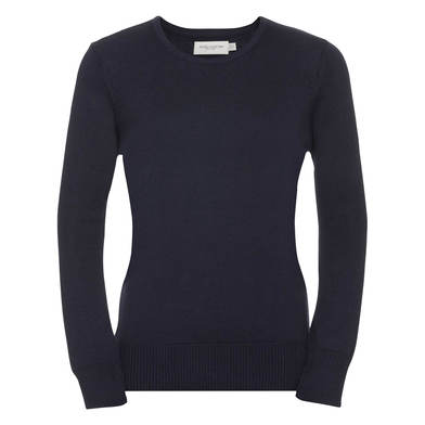 Russell Collection - Women's Crew Neck Knitted Pullover