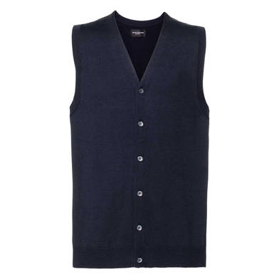 Russell Collection - V-neck Sleeveless Knitted Cardigan