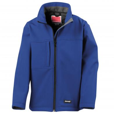 Junior Classic Softshell 3-layer Jacket In Royal