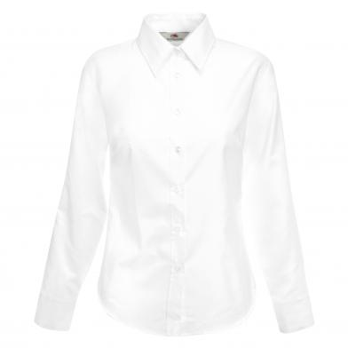 Fruit of the Loom - Lady-fit Oxford Long Sleeve Shirt
