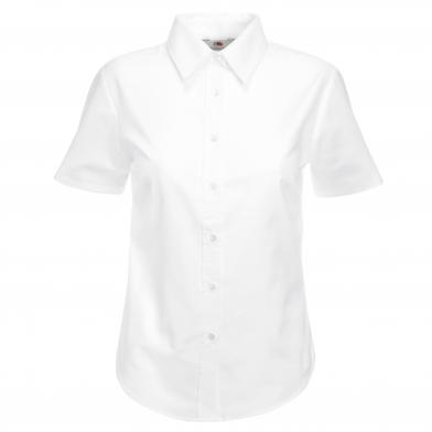 Fruit of the Loom - Lady-fit Oxford Short Sleeve Shirt