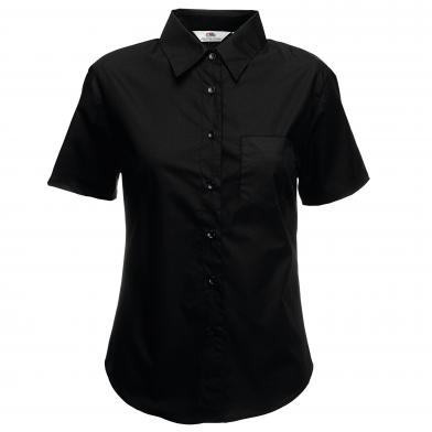 Fruit of the Loom - Lady-fit Poplin Short Sleeve Shirt