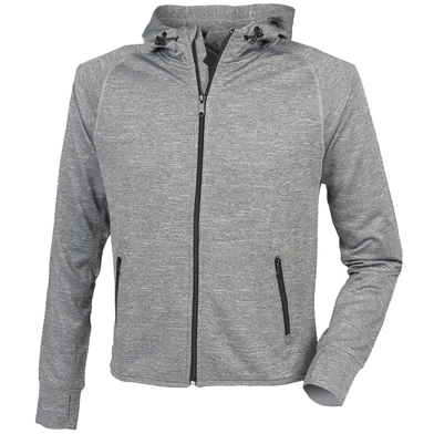 Hoodie With Reflective Tape In Grey Marl