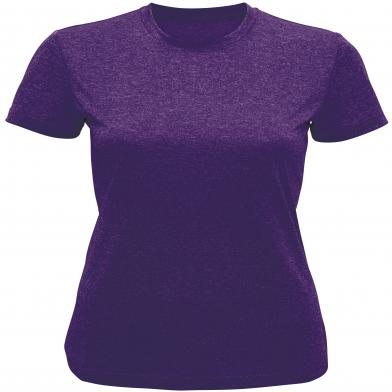 Women's TriDri� Performance T-shirt In Purple Melange