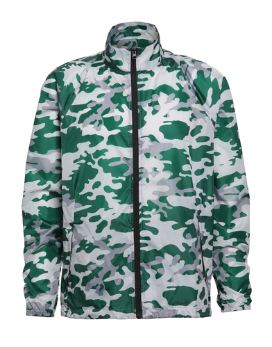 Contrast Lightweight Jacket In Bold Camo Green