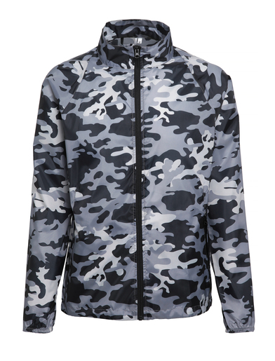 Contrast Lightweight Jacket In Bold Camo Grey
