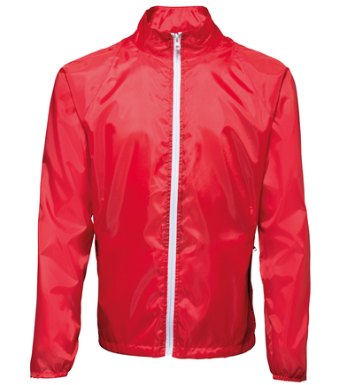 Contrast Lightweight Jacket In Red/ White