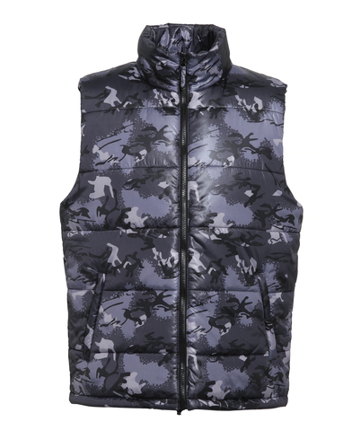 Bodywarmer In Camo Grey