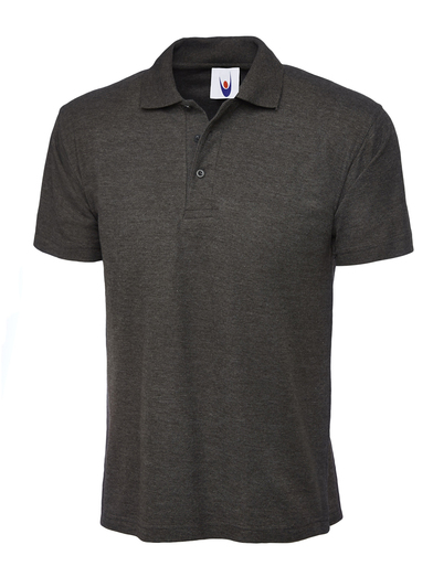 Classic Polo Shirt  In Charcoal