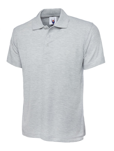 Classic Polo Shirt  In Heather Grey