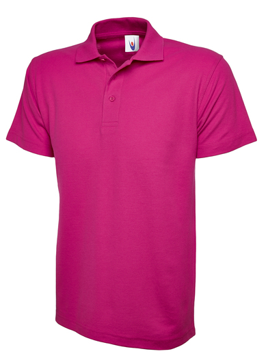 Classic Polo Shirt  In Hot Pink