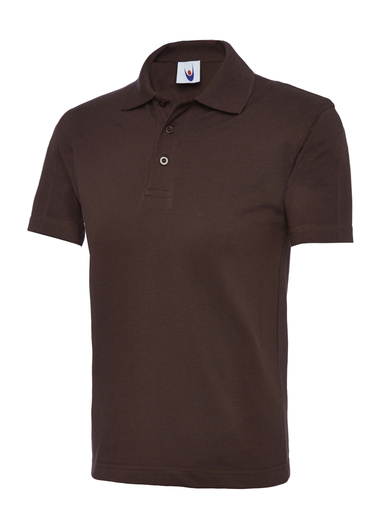 Childrens Polo Shirt  In Brown