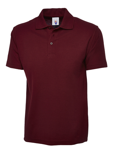 Childrens Polo Shirt  In Maroon