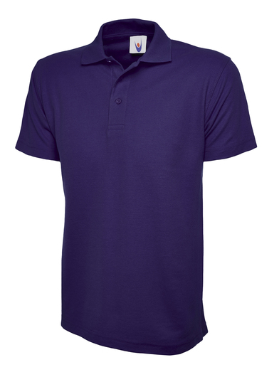 Active Polo Shirt  In Purple