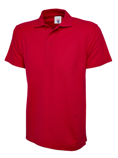 Active Polo Shirt  In Red