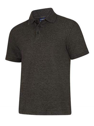 Deluxe Polo Shirt  In Charcoal