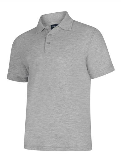 Deluxe Polo Shirt  In Heather Grey