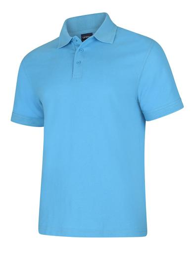 Deluxe Polo Shirt  In Sky Blue