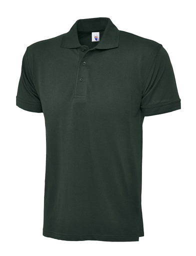 Essential Polo Shirt  In Bottle Green