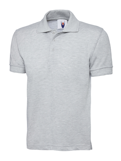 Essential Polo Shirt  In Heather Grey