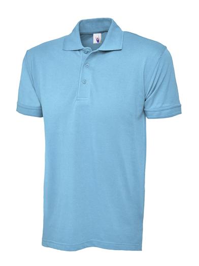Essential Polo Shirt  In Sky Blue
