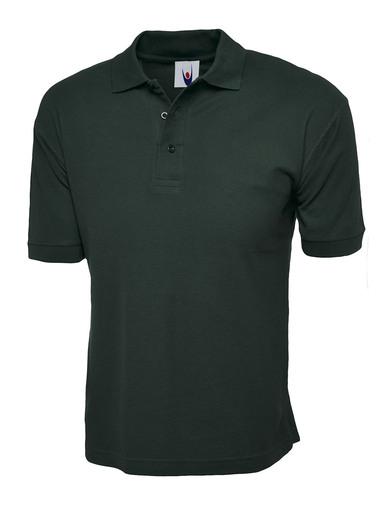 Cotton Rich Polo Shirt  In Bottle Green