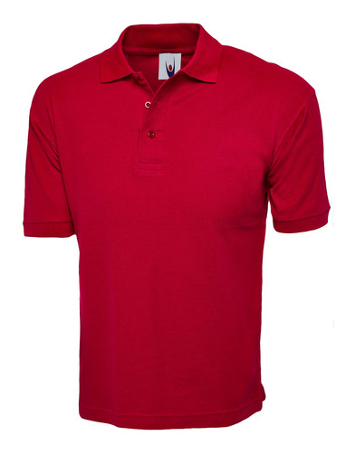 Cotton Rich Polo Shirt  In Red