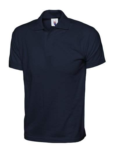 Jersey Polo Shirt  In Navy