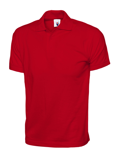 Jersey Polo Shirt  In Red