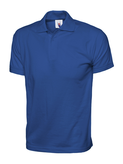 Jersey Polo Shirt  In Royal Blue