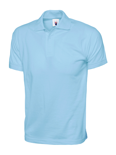Jersey Polo Shirt  In Sky Blue