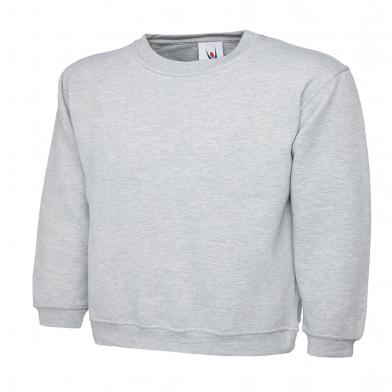Childrens Sweatshirt  In Heather Grey