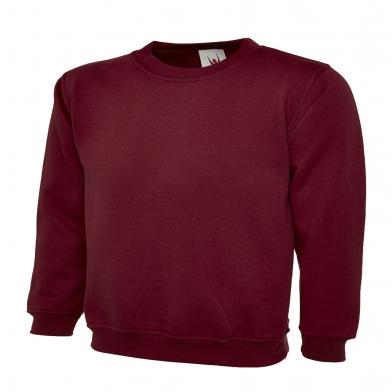 Childrens Sweatshirt  In Maroon