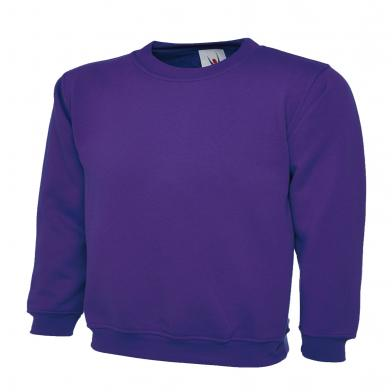 Childrens Sweatshirt  In Purple