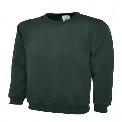Classic Sweatshirt  In Bottle Green