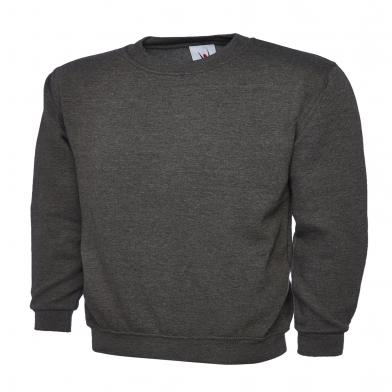 Classic Sweatshirt  In Charcoal