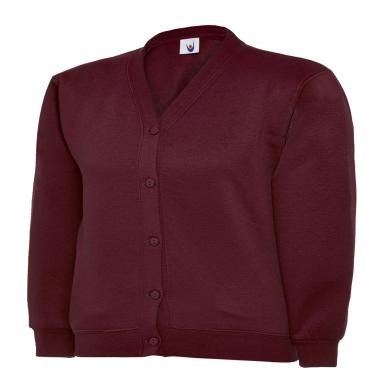 Childrens Cardigan  In Maroon