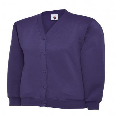 Childrens Cardigan  In Purple