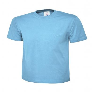 Childrens Polo Shirt  In Sky Blue