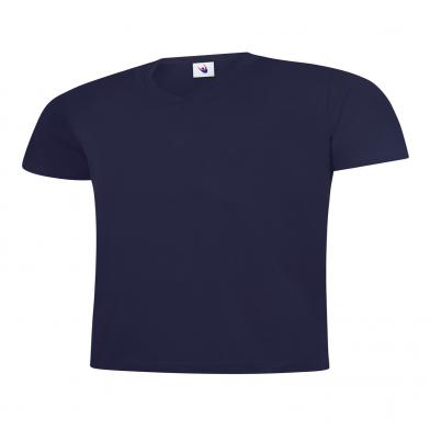 Classic V Neck T-Shirt  In Navy