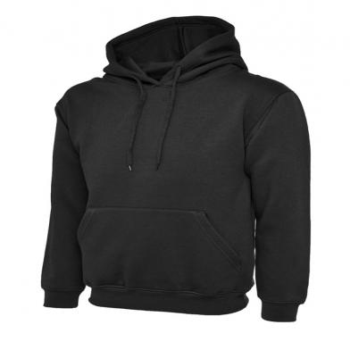 Classic Hooded Sweatshirt  In Black