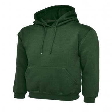 Classic Hooded Sweatshirt  In Bottle Green